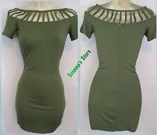 NWT bebe MORGAN CUTOUT DRESS SIZE XL Easy-chic dress in a tee design elevated