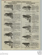 1922 PAPER AD Vintage Troxel Bicycle Saddle Seat Motorbike 14 Models Images