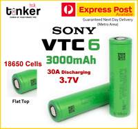 Sony US18650 VTC6 3000mAh 3.7v HIGH CURRENT 30Amp Lithium Rechargeable Battery