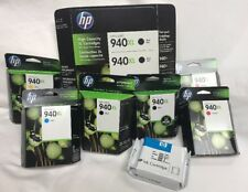 Lot of 9 HP 940XL High Capacity Black Magenta Cyan Yellow Ink Cartridges