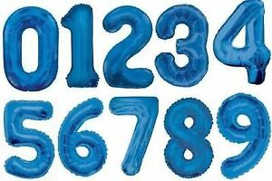 """34"""" Giant Foil Number Blue Helium Large Balloons Birthday Party Wedding"""