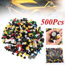 500X Mixed Car Door Bumper Fenders Fastener Retainer Rivet Push Pin Clip