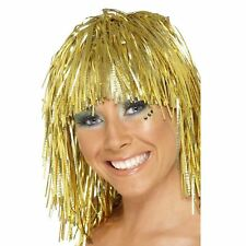 Perruque Disco Lamée Or Métallique par Smiffys Costume Déguisement