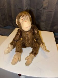 """Extremely RARE 7"""" Schuco  German Jointed Mohair Monkey, Movable Head Rare 🤩"""