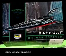 Revell 1:25 scale kit Batman Forever Batboat # 6722 Open Sealed inside