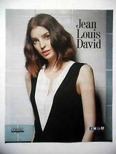 PUBLICITE-ADVERTISING :  Jean-Louis DAVID  2016 Coiffure