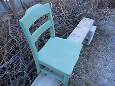 OLD MAPLE  SCHOOL CHAIR MISSION CHAIR MAKER W.H. GUNLOCKE