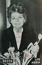 Lys Assia (1924-2018) - Sängerin - sign. Foto