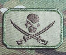 PIRATE SKULL & SWORDS FLAG CALICO JACK US ARMY USA MULTICAM SEALS HOOK PATCH