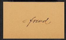 Sigmund Freud Autograph Reprint On Genuine Original Period 1920s 3x5 Card