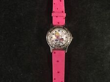 "Disney Lizzie McGuire Personalized ""Lindsey"" Pink Band Wrist Watch 8"" Long"