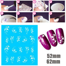 White Flower Tropical Dots Nail Art Stickers Water Transfer Manicure Decal Decor