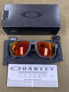 Oakley Holbrook (0OO9102) - Men's Black Camo Prizm Ruby Polarized Sunglasses