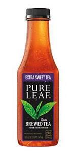 Pure Leaf Iced Tea Extra Sweet Real Brewed Black Tea 18.5 Fl Oz Bottles 12 Pack