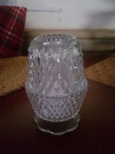 Crystal PRISM gem GLASS diamond BLING votive Candle holder cup