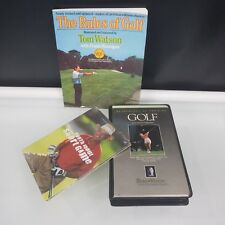 Golfers Lot The Rules of Golf Book Vhs Gold With Patty Sheehan Dvd Aj Short Game