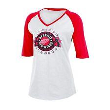 DETROIT RED WINGS - NHL Women's Slub V-Neck Tee T-Shirt - WHITE - XL