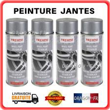 Lot 4 Bombes de Peinture Gris pour Jantes Auto Moto en Aérosol Spray 4 x 400 ml