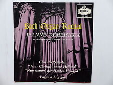 Bach organ recital JEANNE DEMESSIEUX Organ of the Victoria Hall Genva  CEP 580