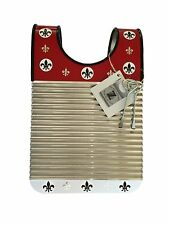 "Washboard Zydeco Rubboard ""RED & WHITE"" Free Scratchers & Always Free Shipping"