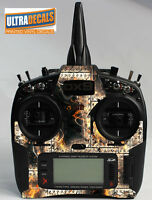 Spektrum DX9 DX8 DX7S Metal Fire Skin Wrap Decal Transmitter Controller Skinz