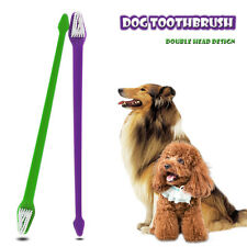 Double Head Dog Cat Toothbrush Clean Tooth Puppy Pet Dental Health Tooth Brush