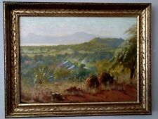 Martin Leisser (1846 - 1940)  Oil Painting from 1916 of Waianae  Honolulu