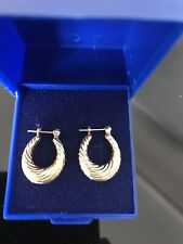 9CT GOLD CREOLE EARRINGS 1.5G IN BOX