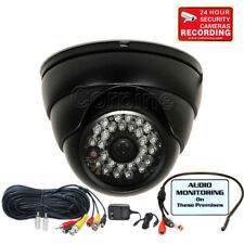 Security Camera w/ Sony Effio Ir Night Outdoor Wide Angle w/ Audio Cable Mic cn5