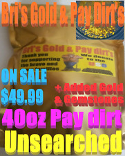 Paydirt 40oz-Bri's famous gold rich Pay dirt-Added Gold-Gemstones-18k-22k