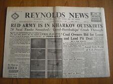 WW2 WARTIME NEWSPAPER - REYNOLDS NEWS - MAY 17th 1942