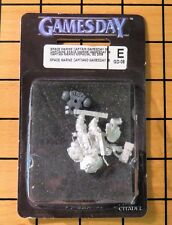 40k Rare oop Blister Metal Space Marine Captain from Gamesday games day 2008 NIB