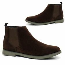 Mens Desert Boots Suede Casual Chelsea Walking Dealer Ankle Smart Fashion Shoes