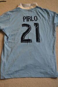 Andrea Pirlo New York City Juventus Shirt Size Large Italy AC Milan Ronaldo