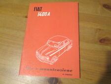 Libretto Uso Manutenzione Fiat 1400A 1955 3°edizione PDF