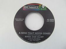 """MAMA CASS ELLIOT A Song That Never Comes/I Can Dream Can I USA 7"""" Single EX Cond"""