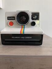 Vintage Original Polaroid SX-70 OneStep White Rainbow Stripe Land Camera TESTED