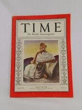 Vtg Man of the Year - Gandhi TIME Magazine 1931 Mahatma Gandhi of India