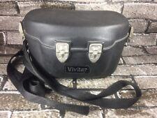 Vintage Vivitar Hard Camera Lens Case Black Curved Hip Padded Lined Interior