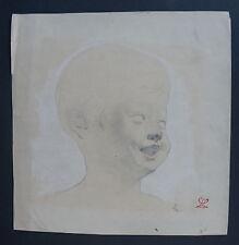 LEON LEPELTIER (1877/1960)  Dessin  - PORTRAIT DE CHERUBIN - Cachet