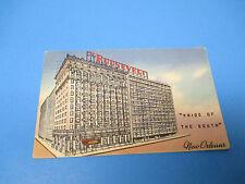 The Roosevelt Hotel New Orleans 1957 Postmarked Vintage Color PC31