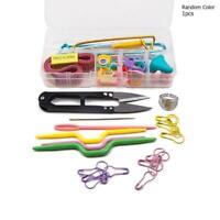 56 pcs Crochet Hook Knit Yarn Weave Knitting Needle Tool set Clip Case A9H2