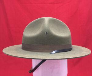 WW2  1944 U.S ARMY Drill Instructor Sergeant Hat Service Field Olive Drab NEW