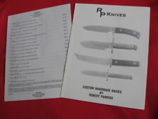 Rare! Mint Condition Robert Parrish RP Knives Survival Fighter Knife Catalog