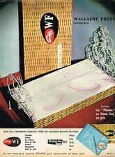 A- Publicité Advertising 1963 Linge de maison Draps Sylphe Leger WF