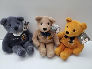 New Sealed 3 Stooges Plush Bean Bag Bear Set Moe Larry Curley Set beanie baby