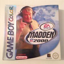 Madden 2000 NFL Game boy Color GBC SP Factory Sealed GameBoy Color Retro Video