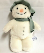 "1986 Eden Raymond Briggs The Snowman Green Hat & Scarf Plush 12"""