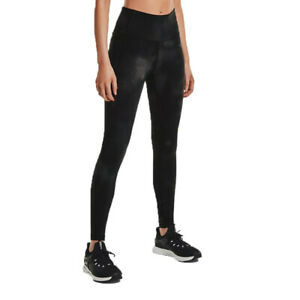 Under Armour Womens Meridian Printed Tights Bottoms Pants Trousers Grey Sports