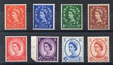 1958 GB Wilding GRAPHITES DEFINITIVE Stamps Set 8v SG587-694 UNMOUNT MINT Re:X55